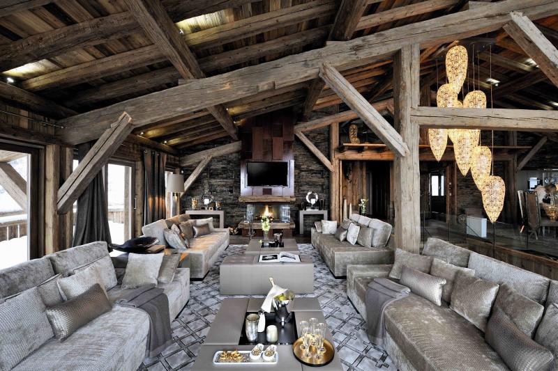 Дома в стиле шале интерьер