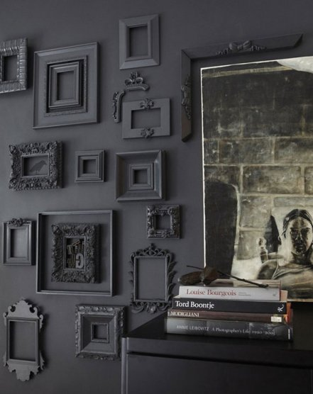 Рамки на стенах с декором фото