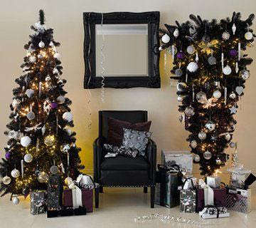 Если вы любите в интерьере черный цвет, новогодние праздники можно...